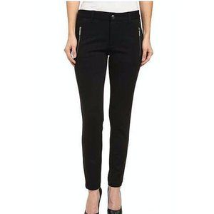 Michael Kors Skinny Black Gold Zipper Pocket Pants
